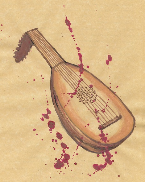 lute watercolor
